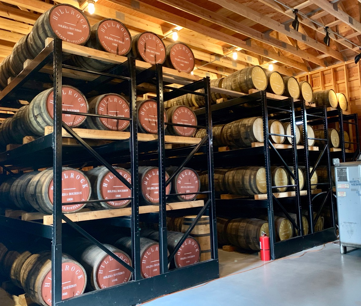 Hillrock Estate Distillery Barrels - Solera Method
