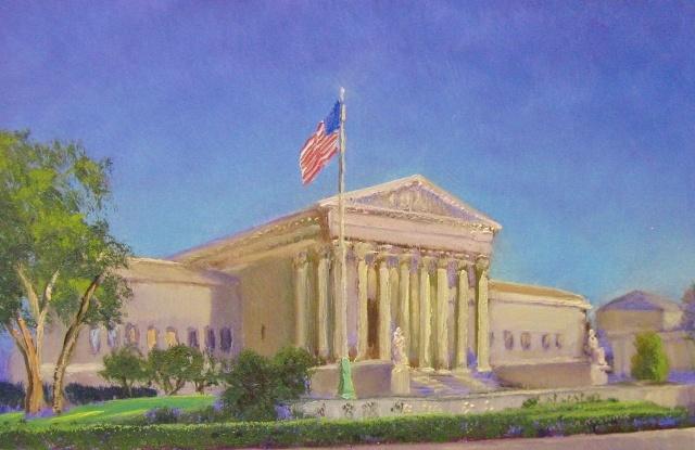 """Andrei Kushnir, U.S. Supreme Court,  8"""" x 12"""" Oil"""