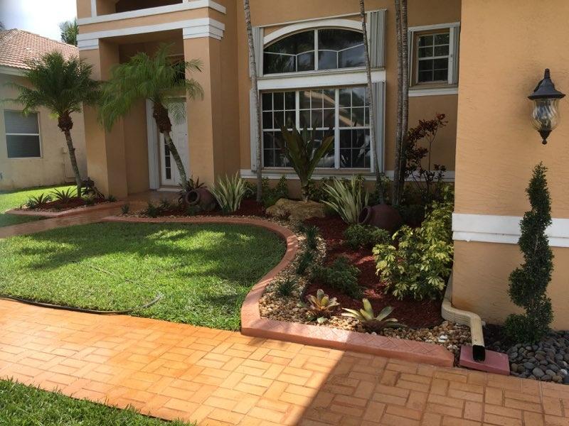 Landscaped House Garden