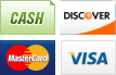 We accept Cash, Discover, MasterCard and Visa.||||