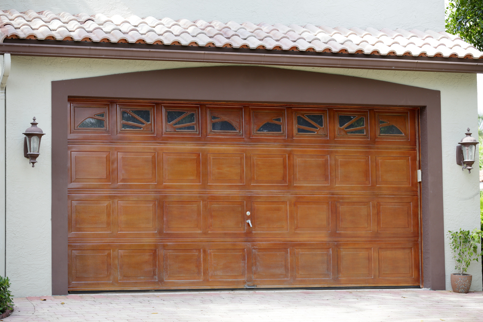 Wooden garage door in Battle Creek