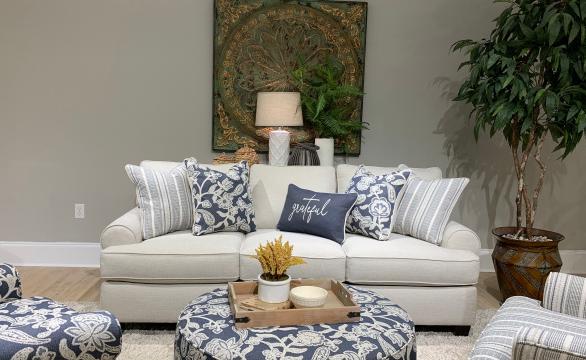 3900 Awesome Oatmeal Sofa by Fusion Furniture