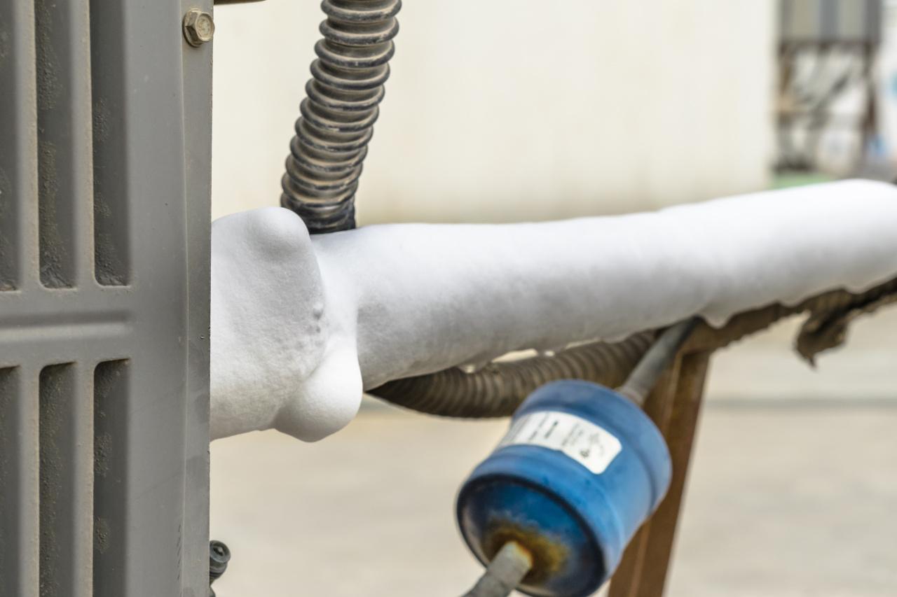 Frozen AC hose