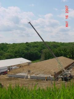 Crane and Building Framing