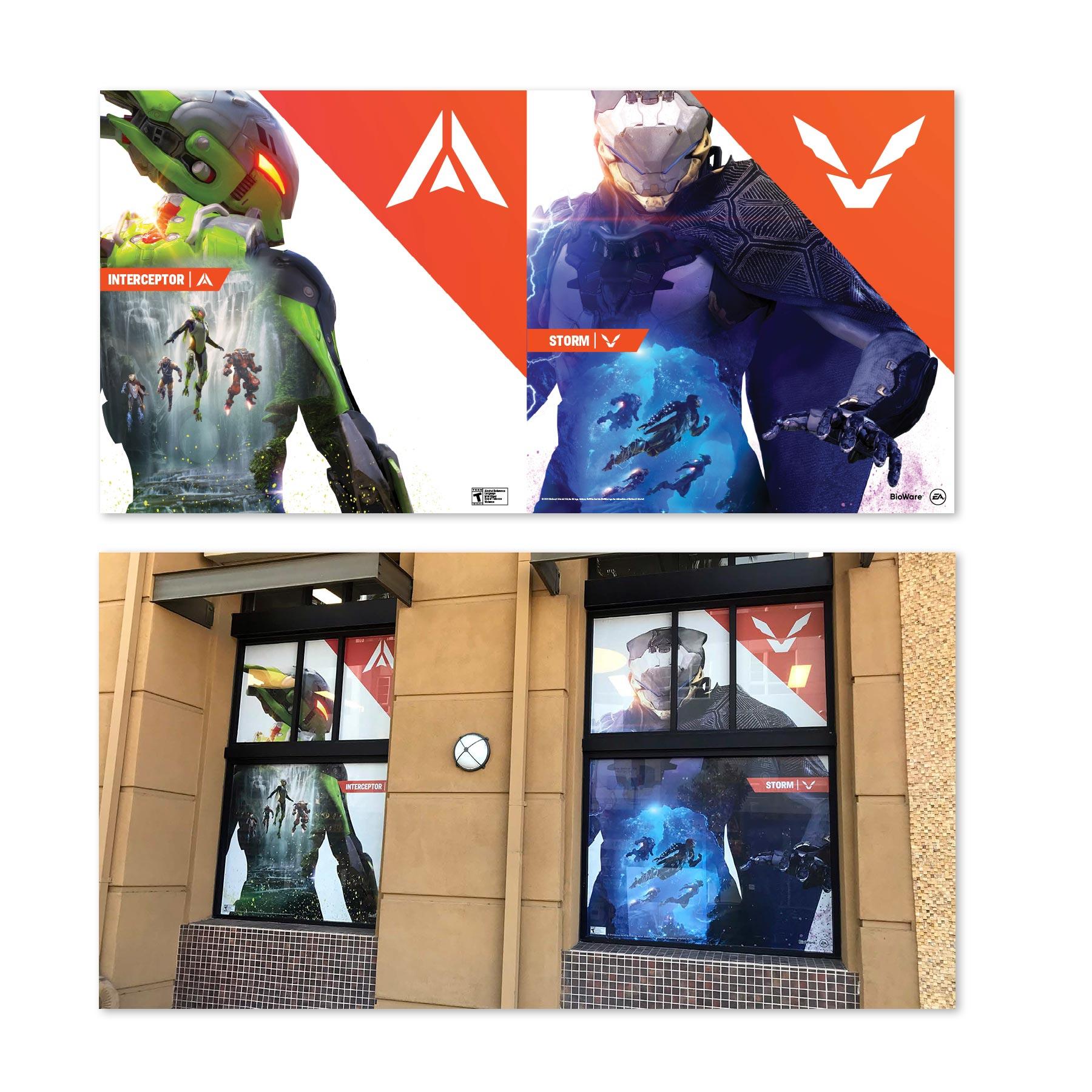 Anthem GameStop Window Clings