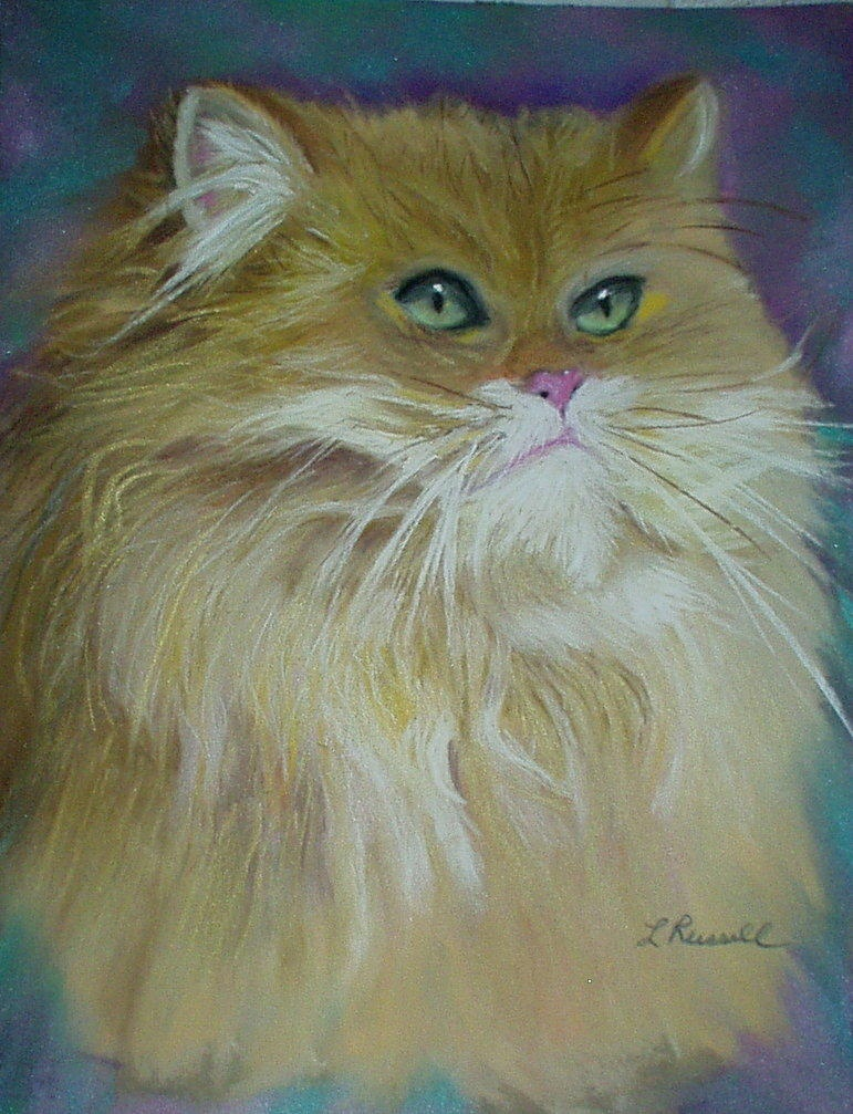 Hazel Cat Painting