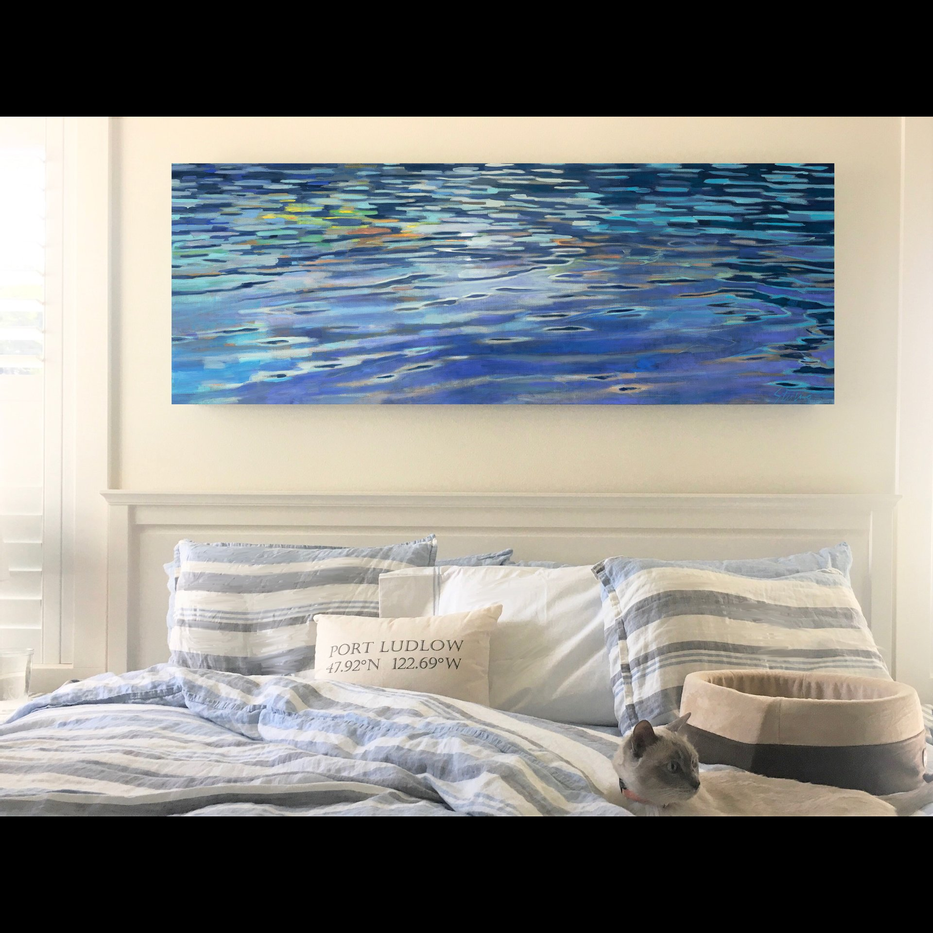 MOONLIGHT SWIM #2 24x72 giclee on canvas $900