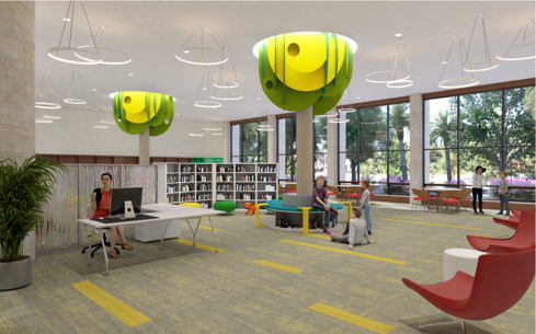Coral Gables Library Children's Area William B. Medellin Architect, PA XpressRendering, Inc.