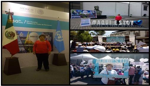 Nuestra participación en la Feria Nacional Informativa del día Mundial contra la Trata de Personas en la CDMX, del día 29 de julio