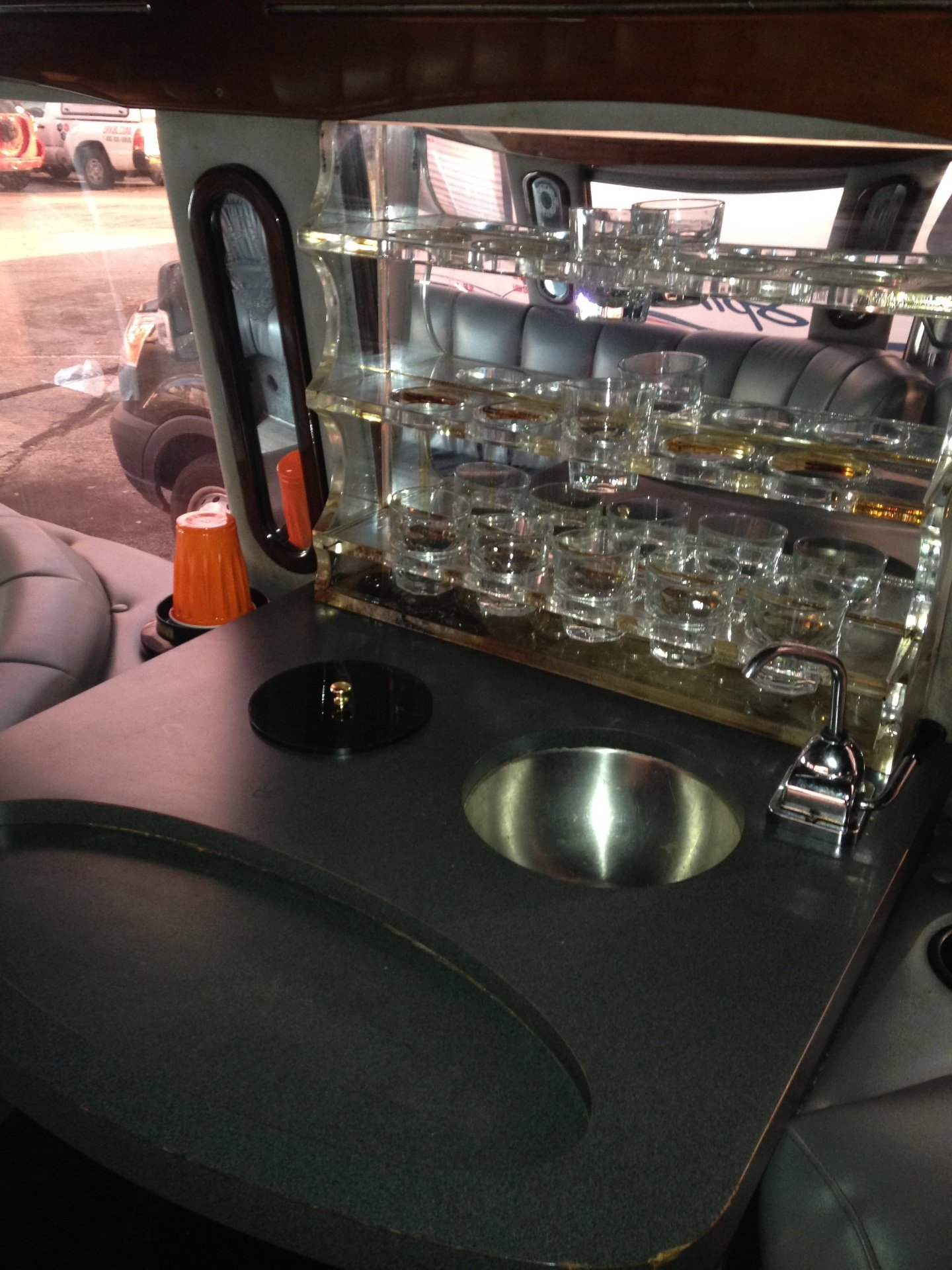 Limo Party Bus Wet Bar