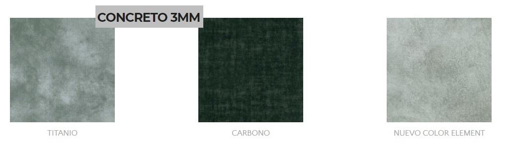 Pisos en tabletas con un estilo muy solido como el concreto, con los tonos  carbono, titanio y neutro,
