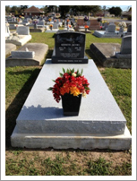Large granite ledger with flowers||||