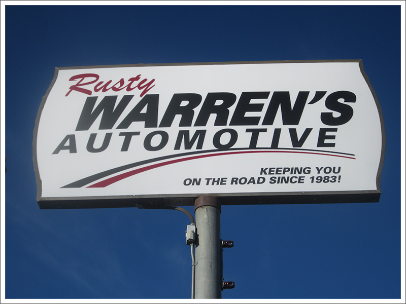 Warren's Automotive sign||||
