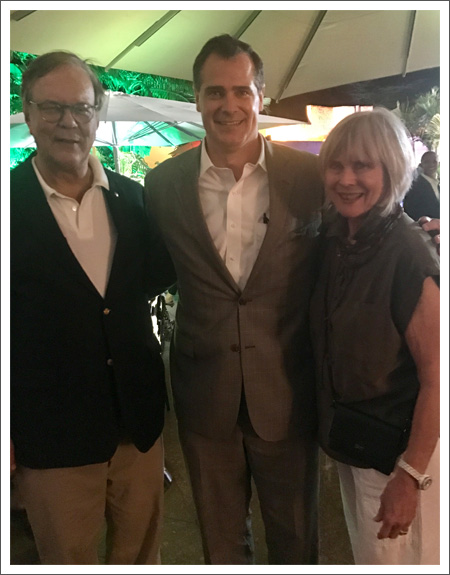 With Zane Kirby, President and Chief Executive Officer of the American Society of Travel Agents, at the Tribe Hotel, Nairobi, Kenya.