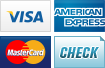We accept Visa, American Express, MasterCard and Checks.||||