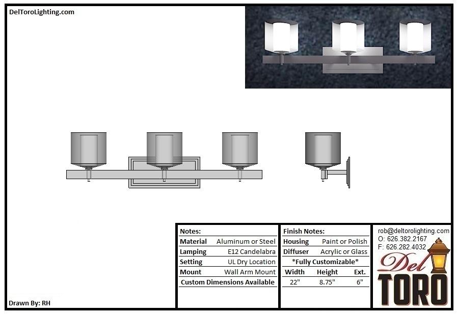 508W-Trio Cylinder Wall Sconce