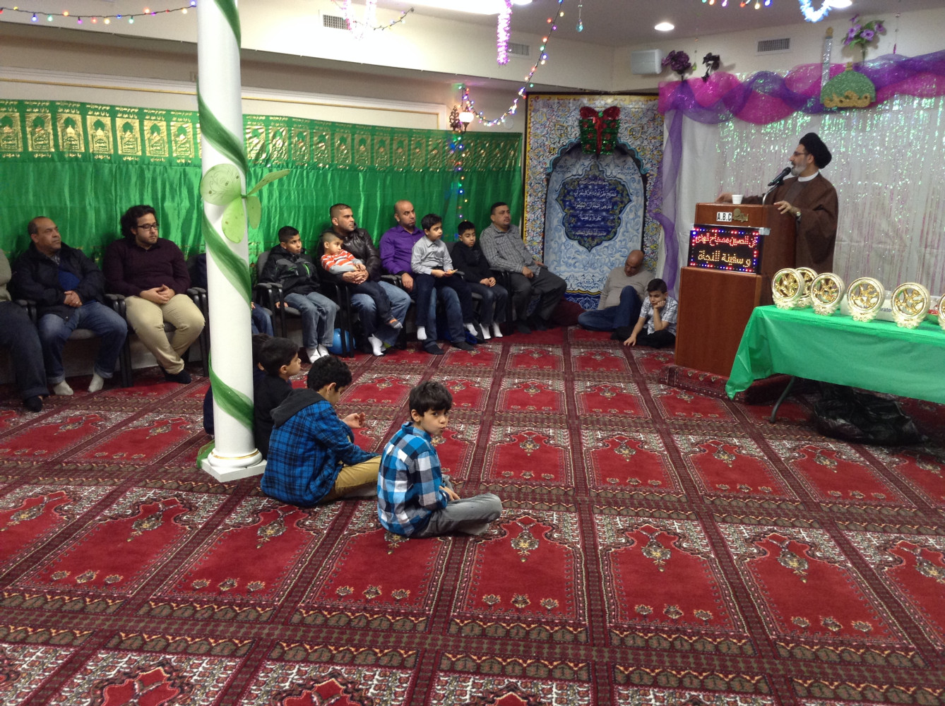 Sponsor of lecture event by Imam Qazwini at Evanston