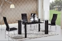 D3250 Black Table, Chair