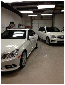 Image of tinted mercedes cars||||