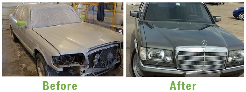 Mercedes Benz Before and After