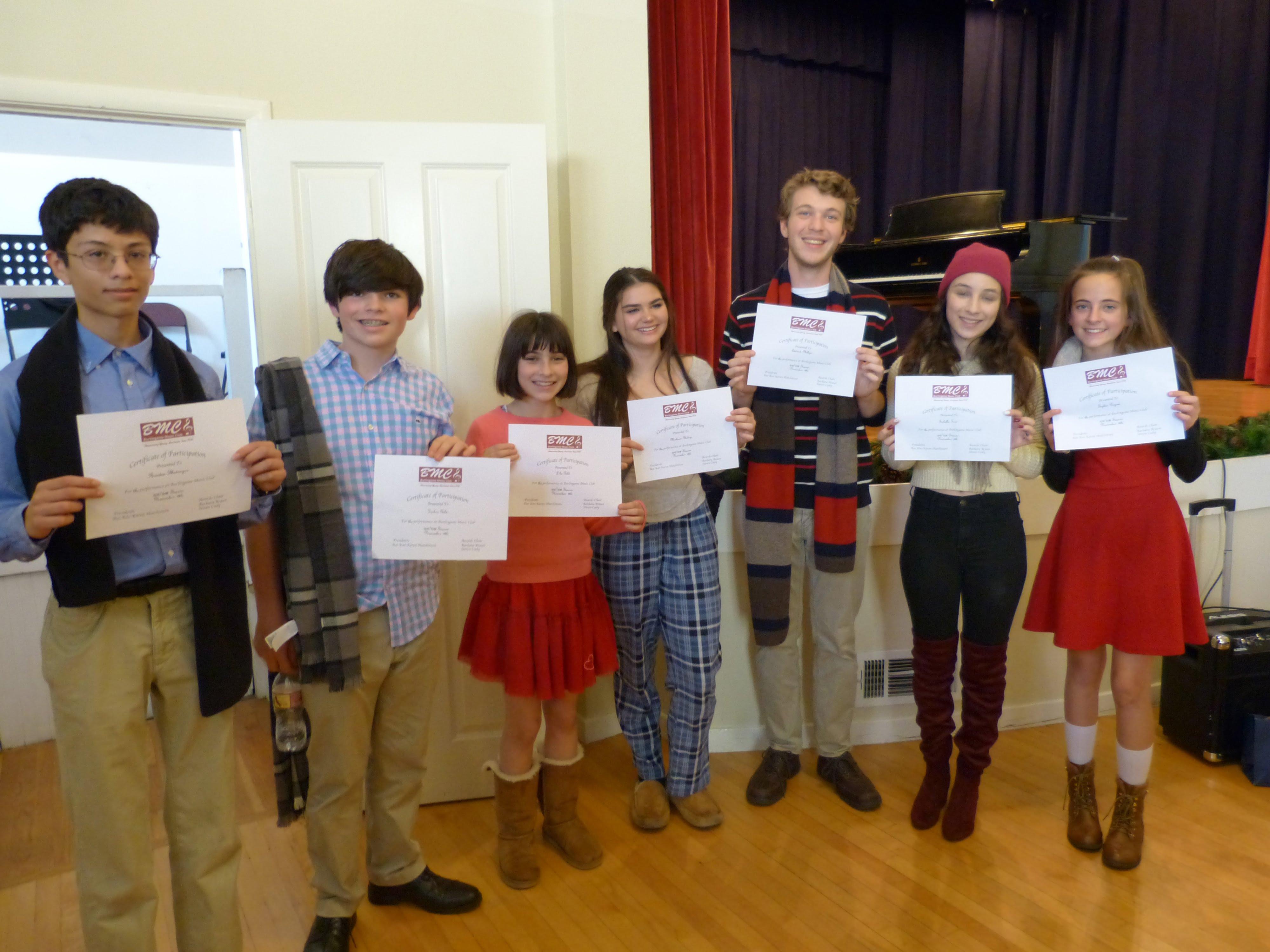 Photo of students from Edie Delgans Voice Studio.