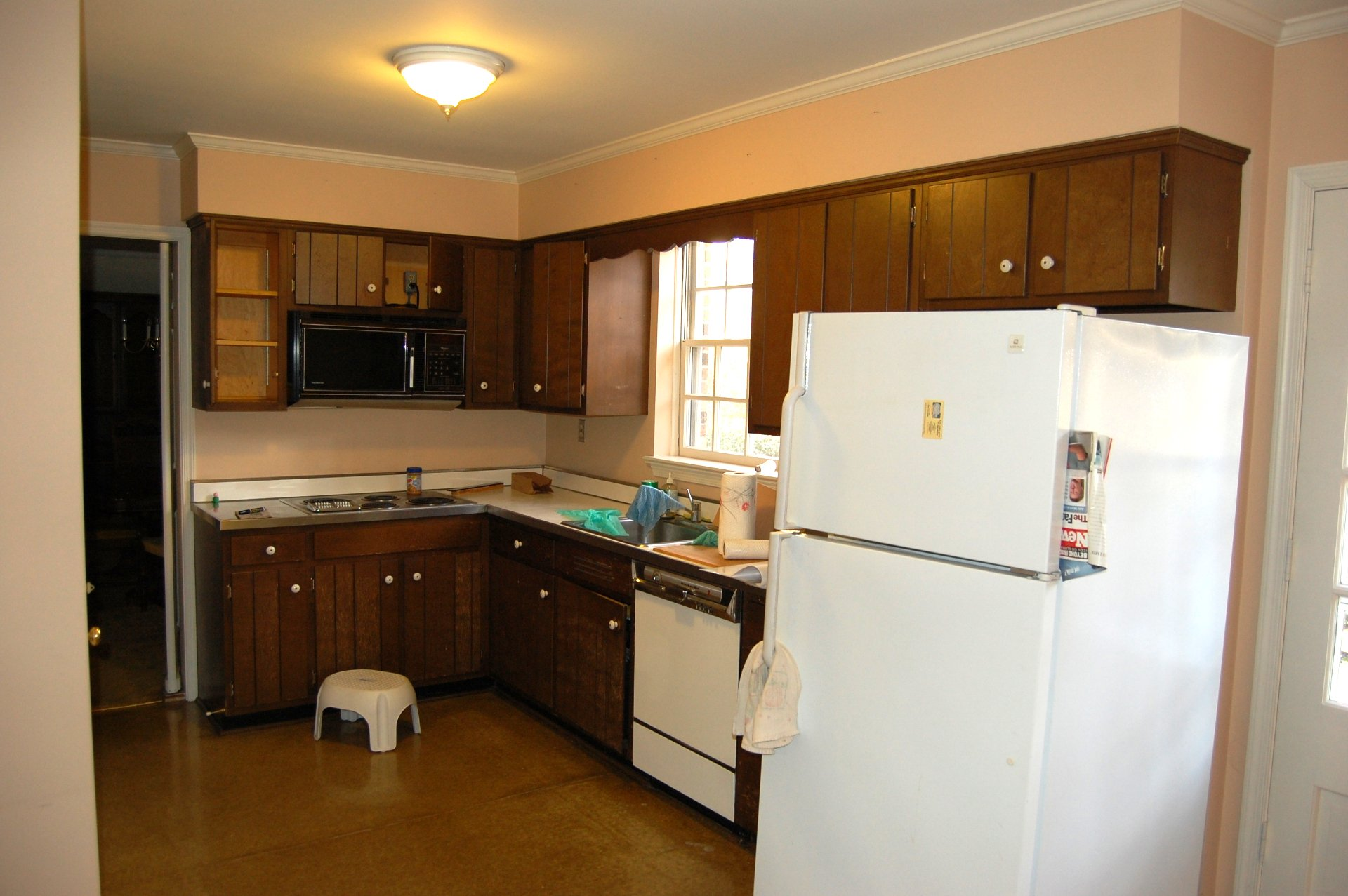 kitchen remodel before A