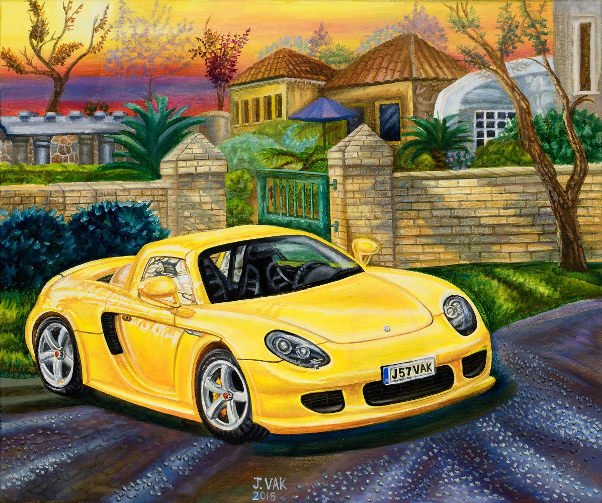 Porsche Carrera GT, 2006     20 X 24 Original Oil             $2200              2015