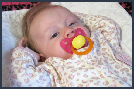 Baby with pacifier||||