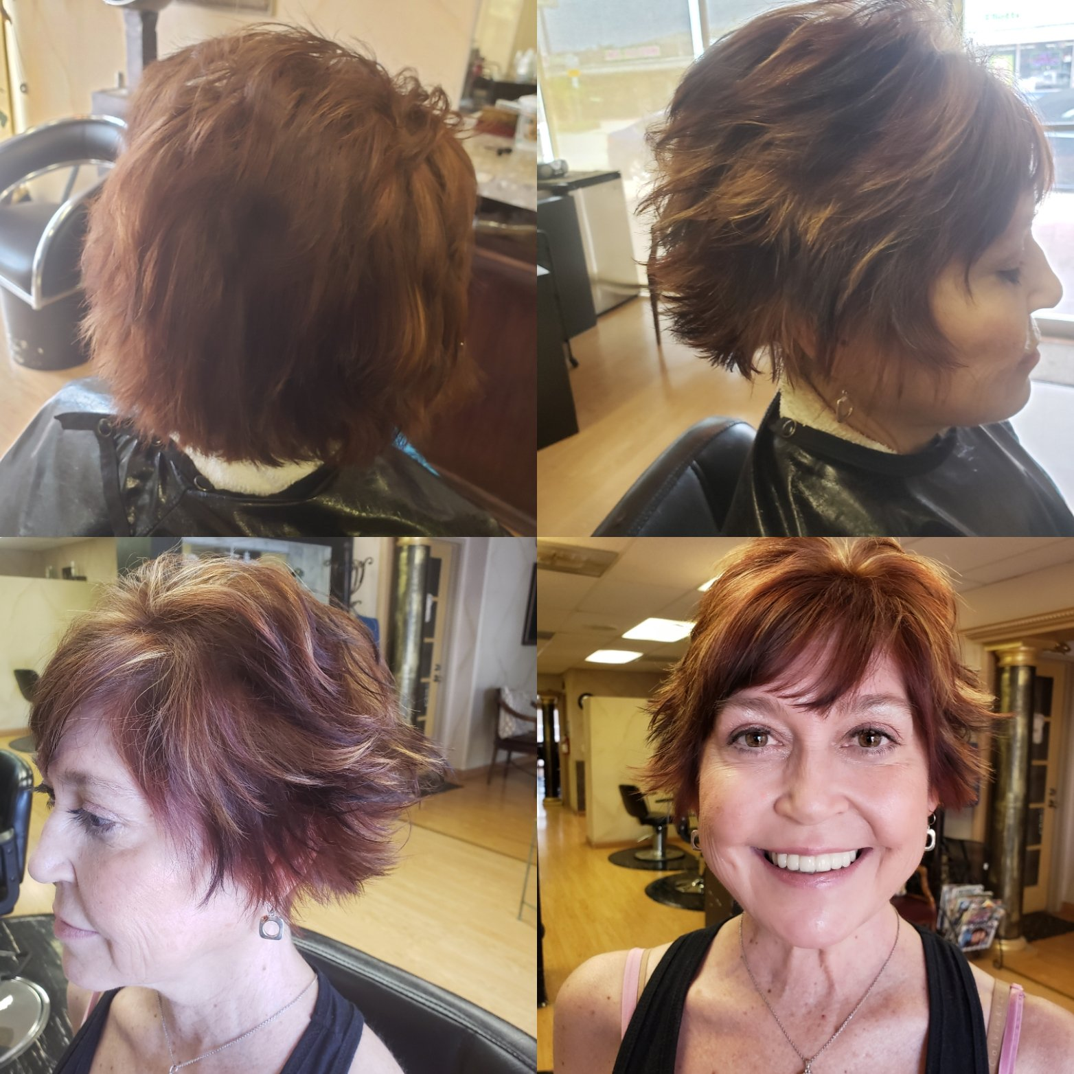 Happy Hair Salon Customer