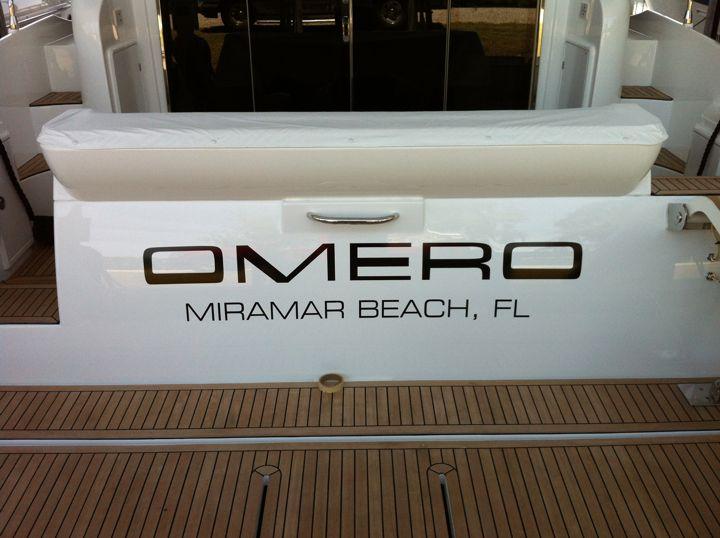 Omero Boat Lettering