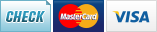 We accept Checks, MasterCard and Visa.||||