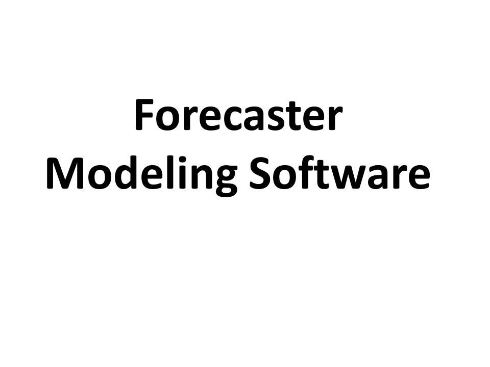 Forecaster Software