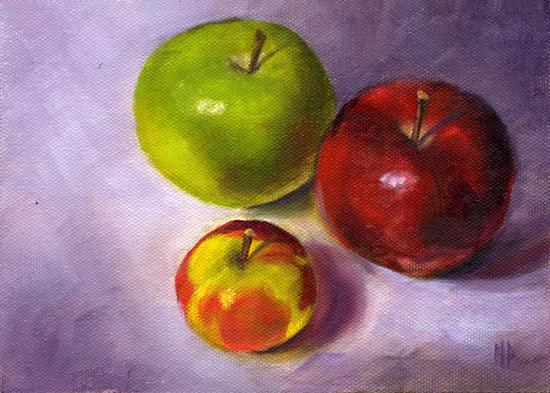 """Proud Parents ~ 5"""" x 7"""" Oil on Canvas Panel"""