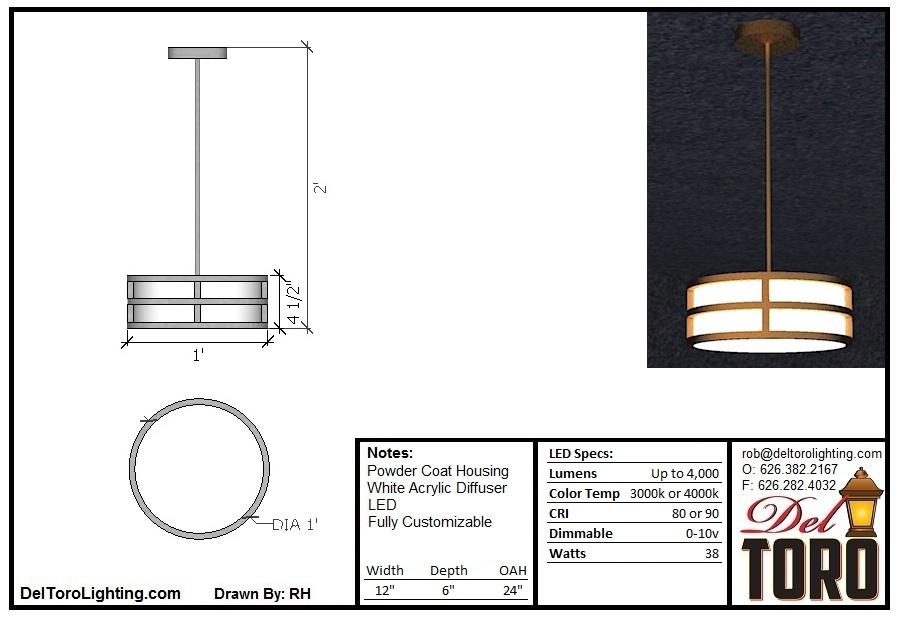 005P-Framed Puck Pendant