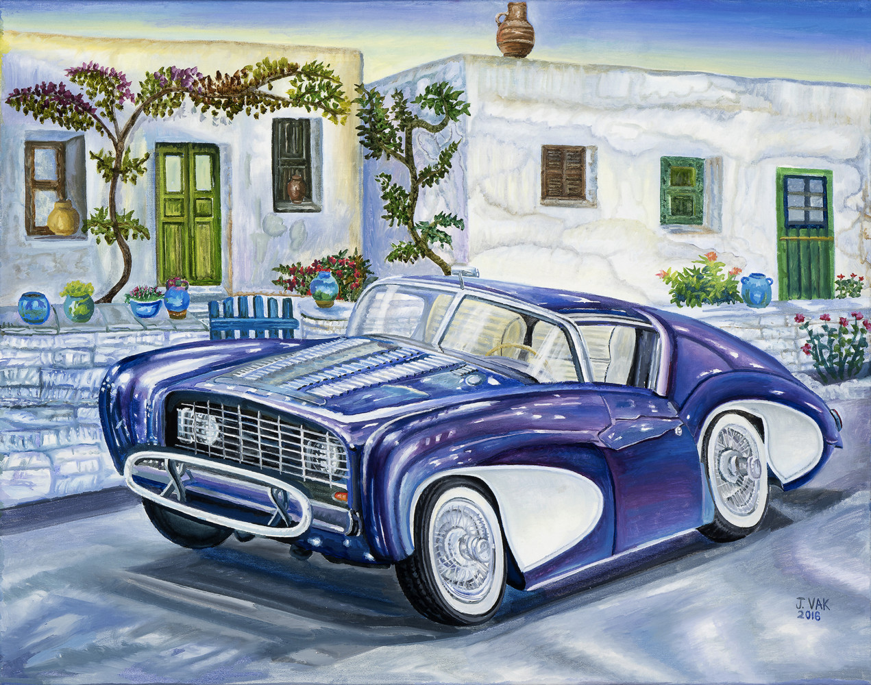 1955 Flajole Forerunner Coupe Concept 22 X 28 Oil on canvas $2800 2016