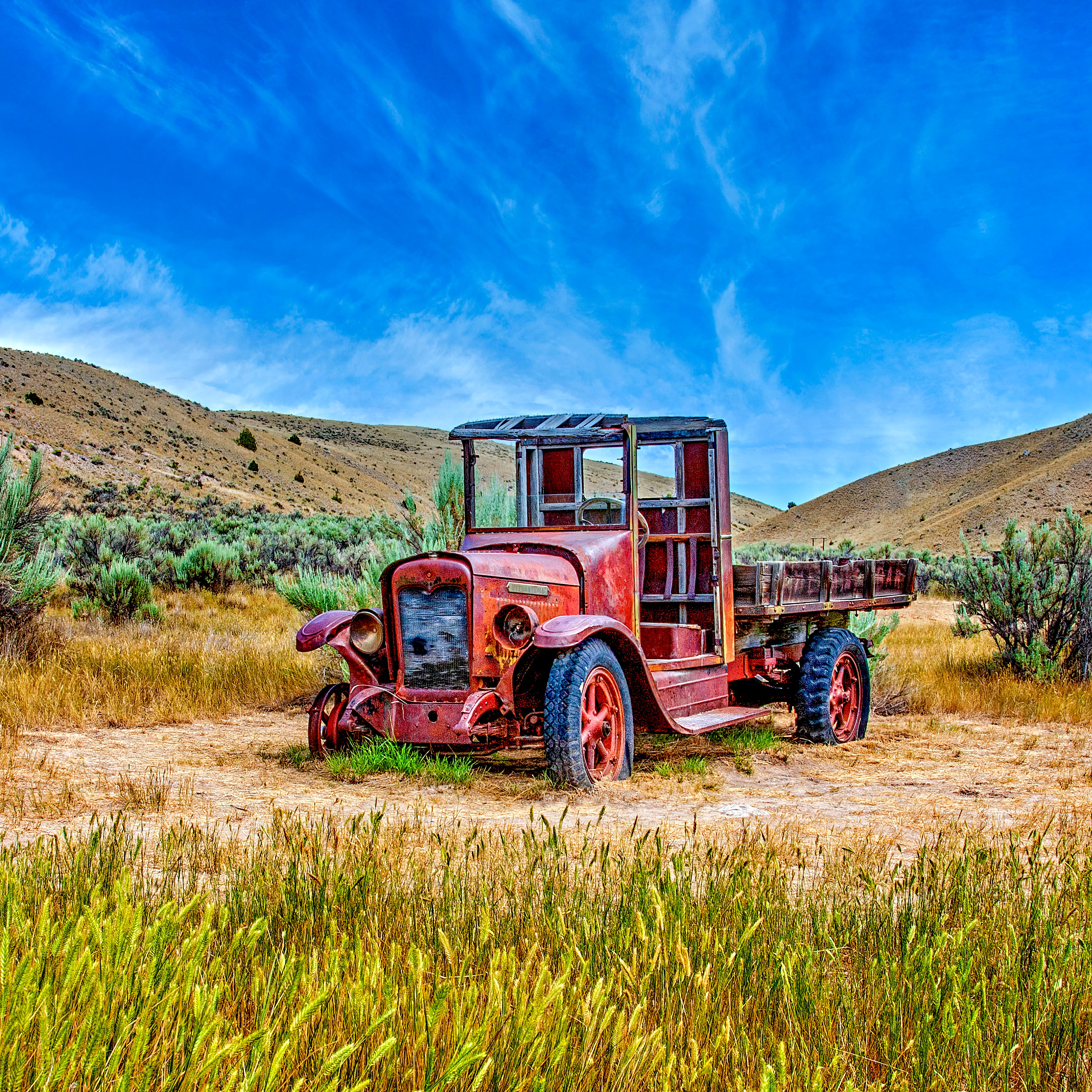 A GHOST TRUCK - It's really not a ghost truck, but it is in one of the best ghost towns... Bodie, California.