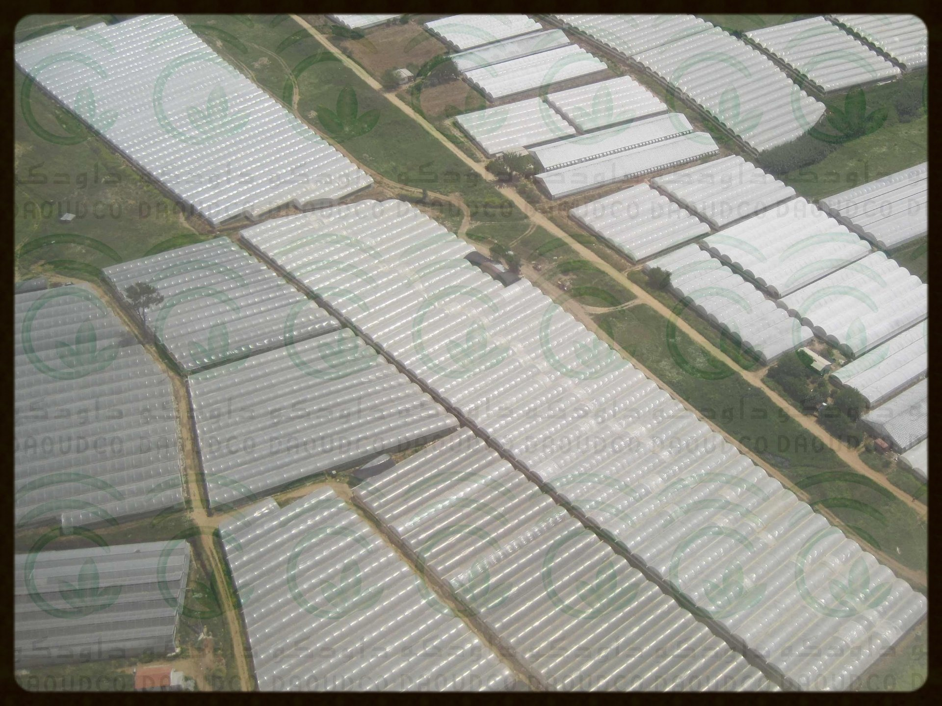Greenhouses Arial View