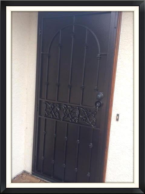 English Ivy Steel Screen Door