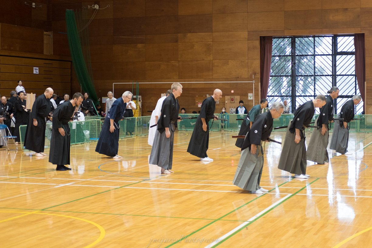 Toyama Ryu Embu - participants from UK, San Diego, D.C., Maryland, South Africa, Australia - 2 members from Kenshinkan Dojo.