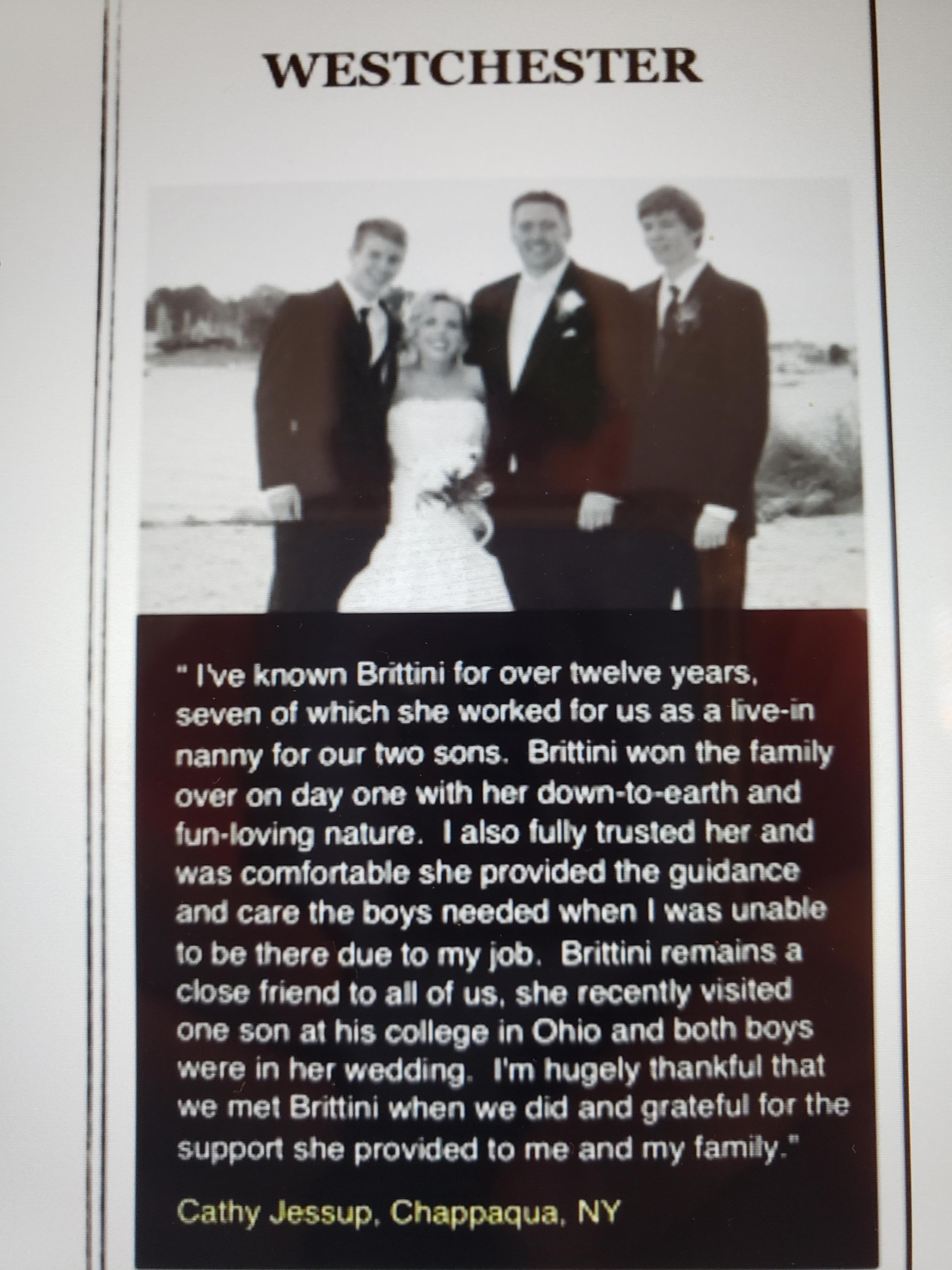 Testimonial from Cathy J.