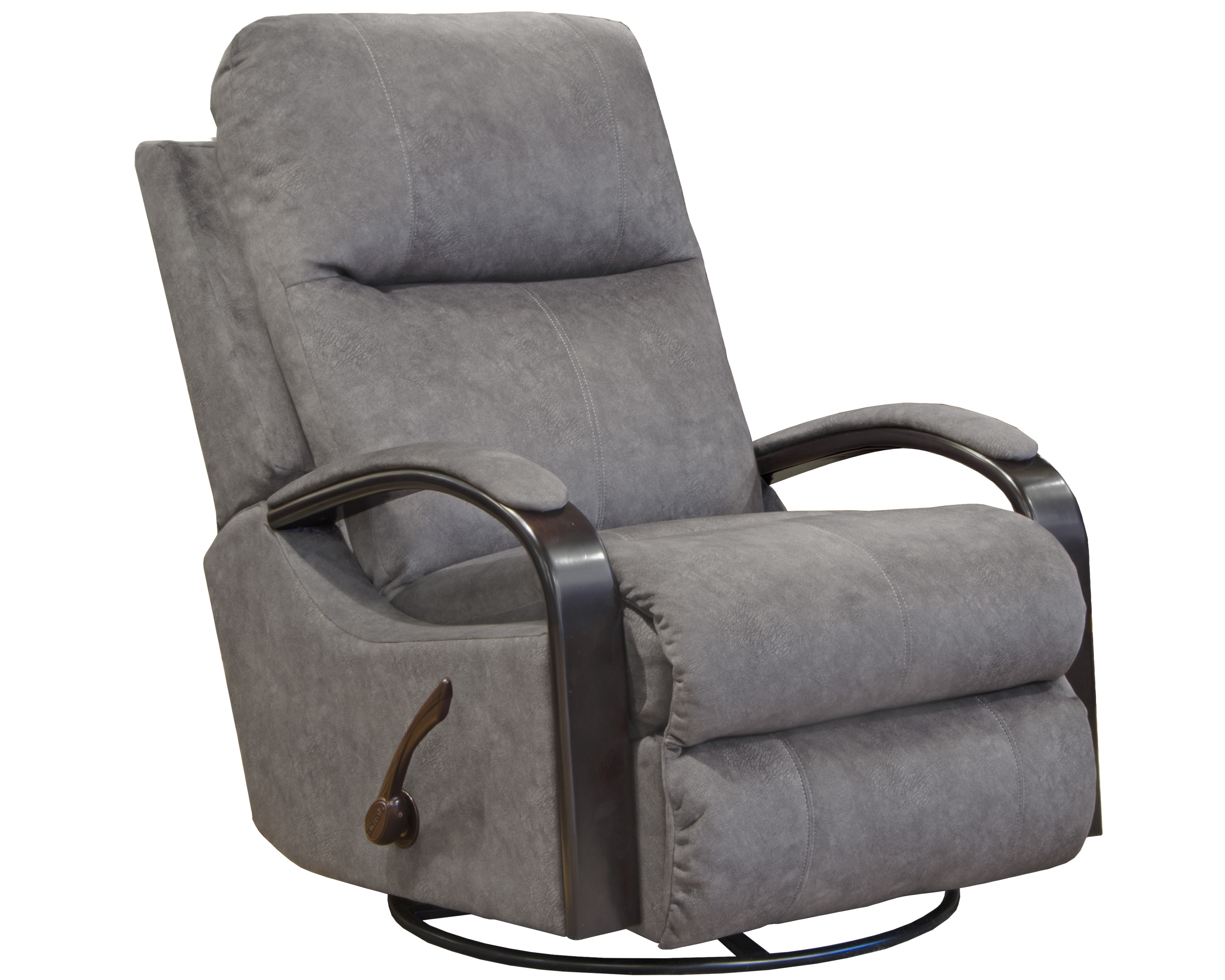 4703 Swivel Glider Recliner Gray