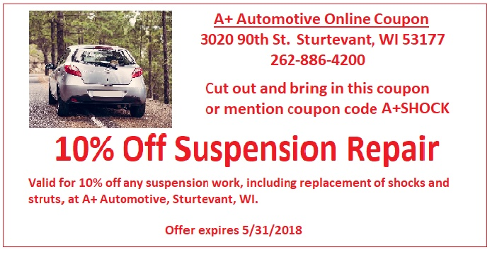 Bring in this coupon for 10% off suspension work.
