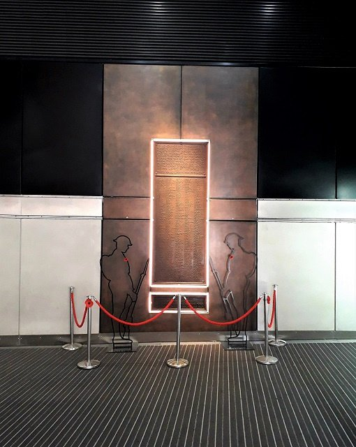 London Bridge Station War Memorial surround with our specialist bronze finish. Thermal spray.
