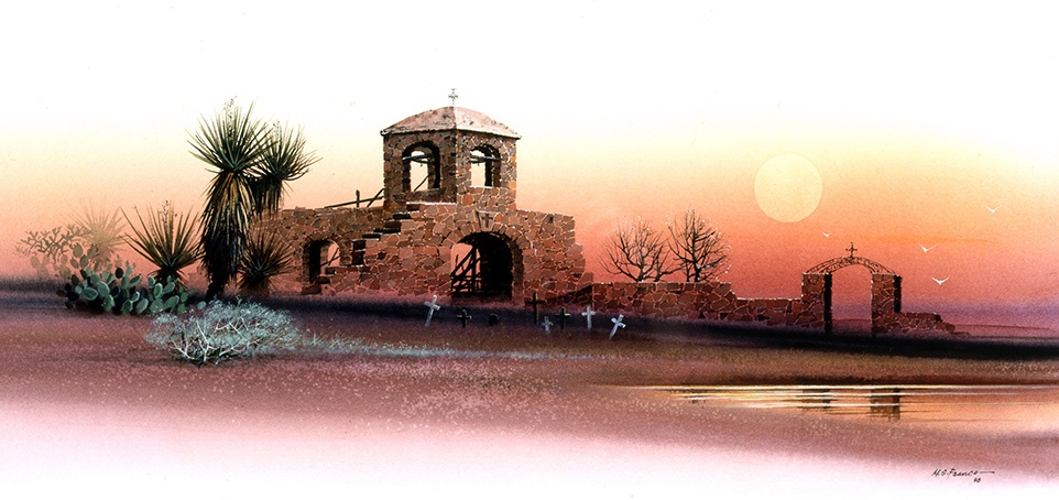 """ Chapel of the Desert "" Edition 450 S/N US $100 AP US $ 125 Image size 12'' X 24"""