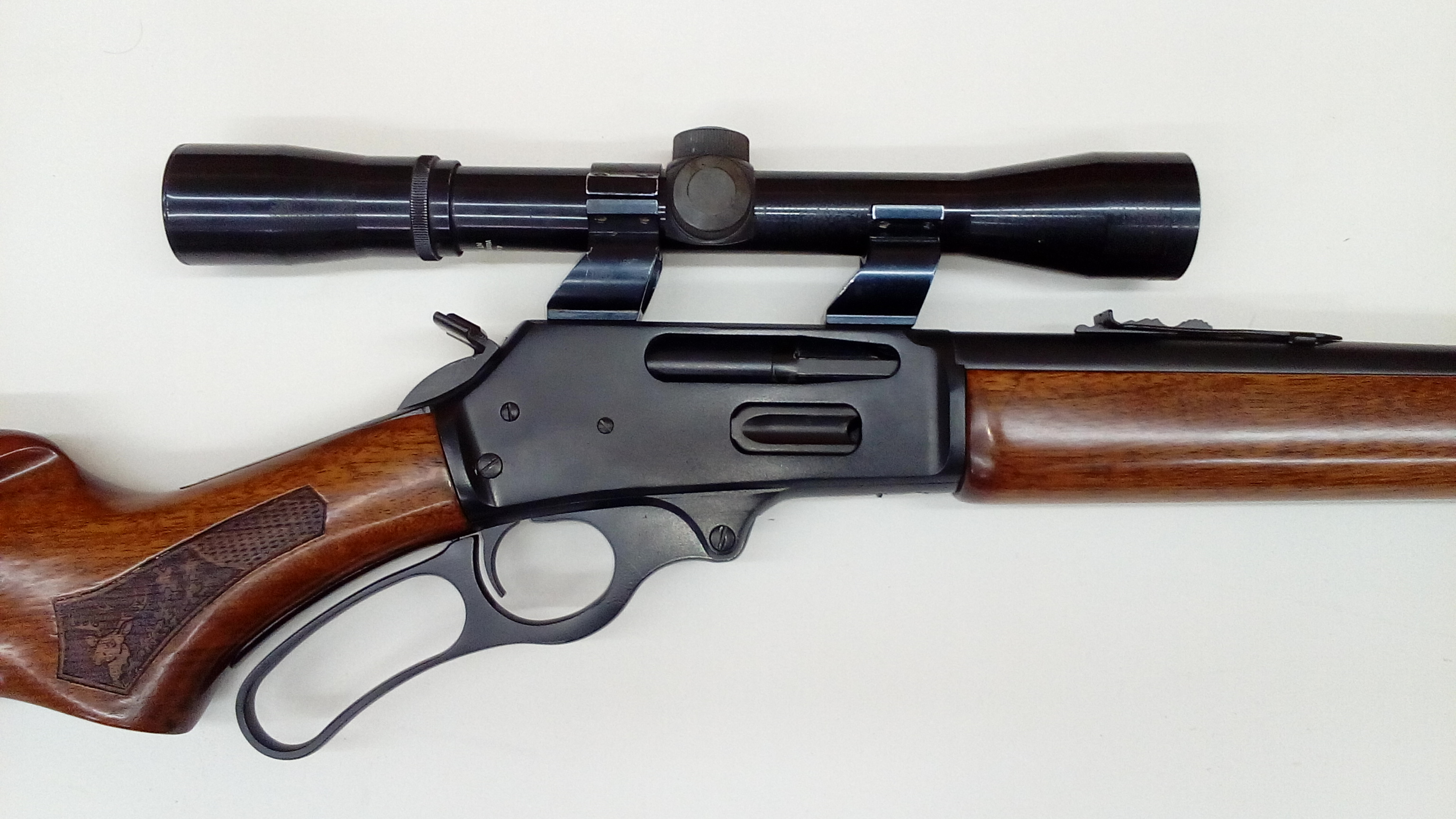 Marlin 30-30 cerakoted in graphite black, this gun was also in a fire.