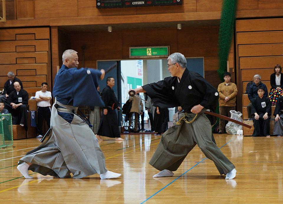 Kumitachi embu - Takano Sensei and Nomura Sensei.