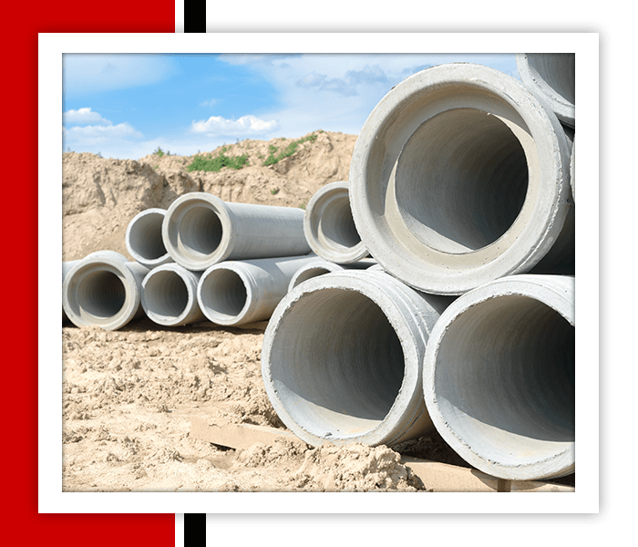 Drainage Pipes Stacked