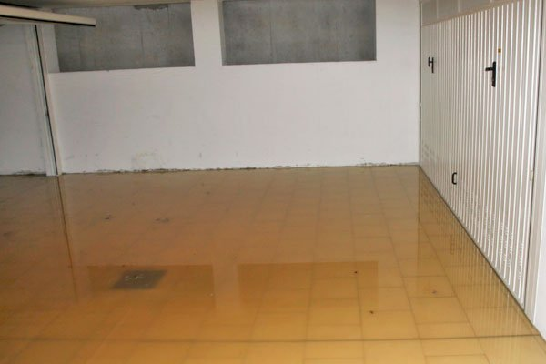 Basement garage with high water flooded