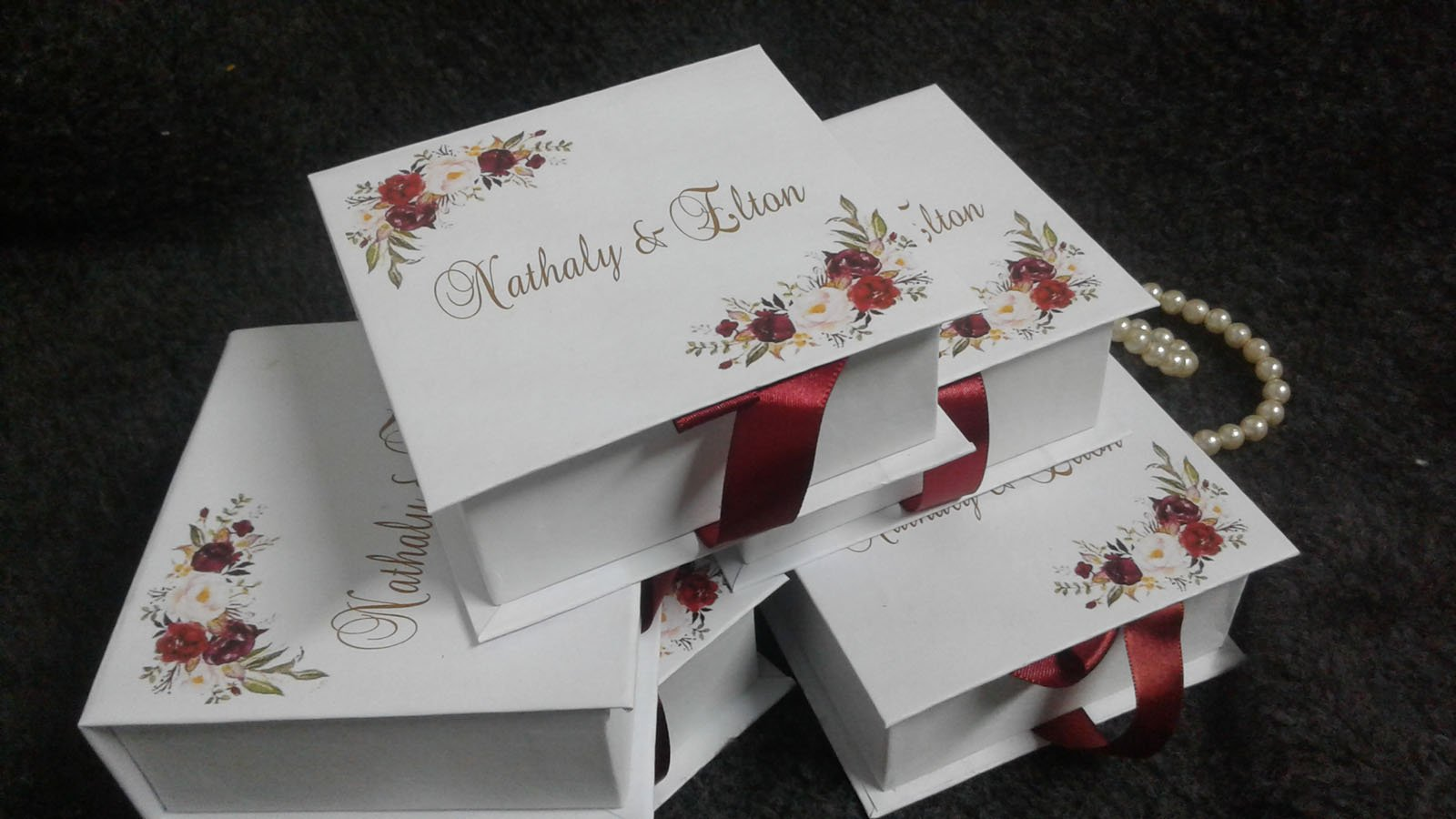 Caixa decoração floral