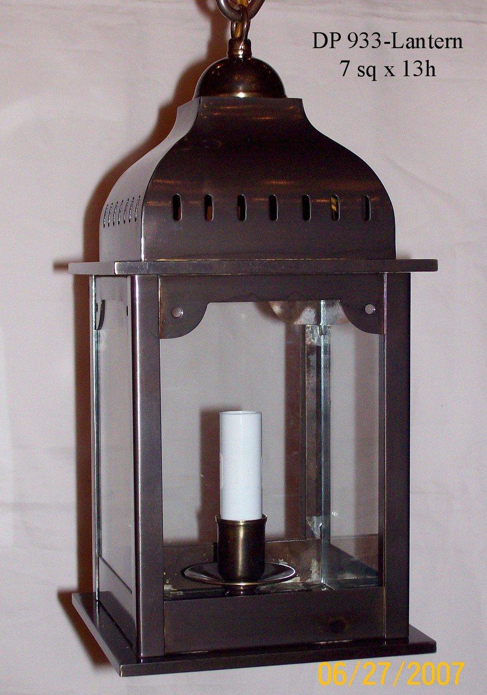 "DP 933 - Lantern 7"" Sq x 13"" h"